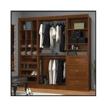 Wood Wardrobe Closet Organizer System Armoire Shoe Storage Clothes Bedro... - $2,249.00