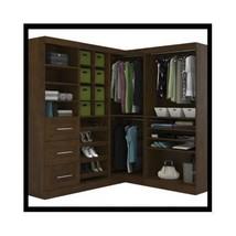 Walk In Closet Corner Wardrobe Unit Wood Storage Organizer Bedroom Syste... - $2,499.00