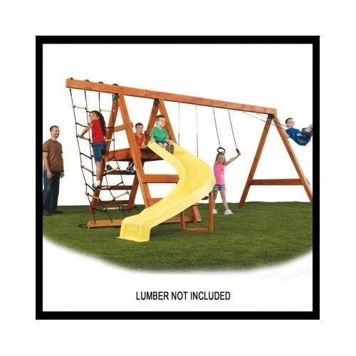 swing set hardware custom playset kit accessories playground backyard diy wood swings slides
