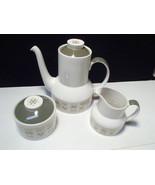 Royal Doulton Samarra Coffee Pot, Cream & Sugar Set~~rare set - $19.95