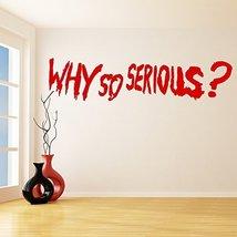 (63'' x 15'') Vinyl Wall Decal Scary Joker Why So Serious? Movie Batman: The ... - $44.83