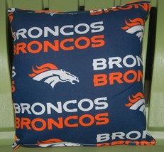 Broncos Pillow NFL Pillow Colorado Broncos Pillow Football Pillow HANDMA... - $9.97