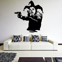 ( 93'' x 94'') Banksy Vinyl Wall Decal Joker Clown with Pistols / Jester Show... - $194.04