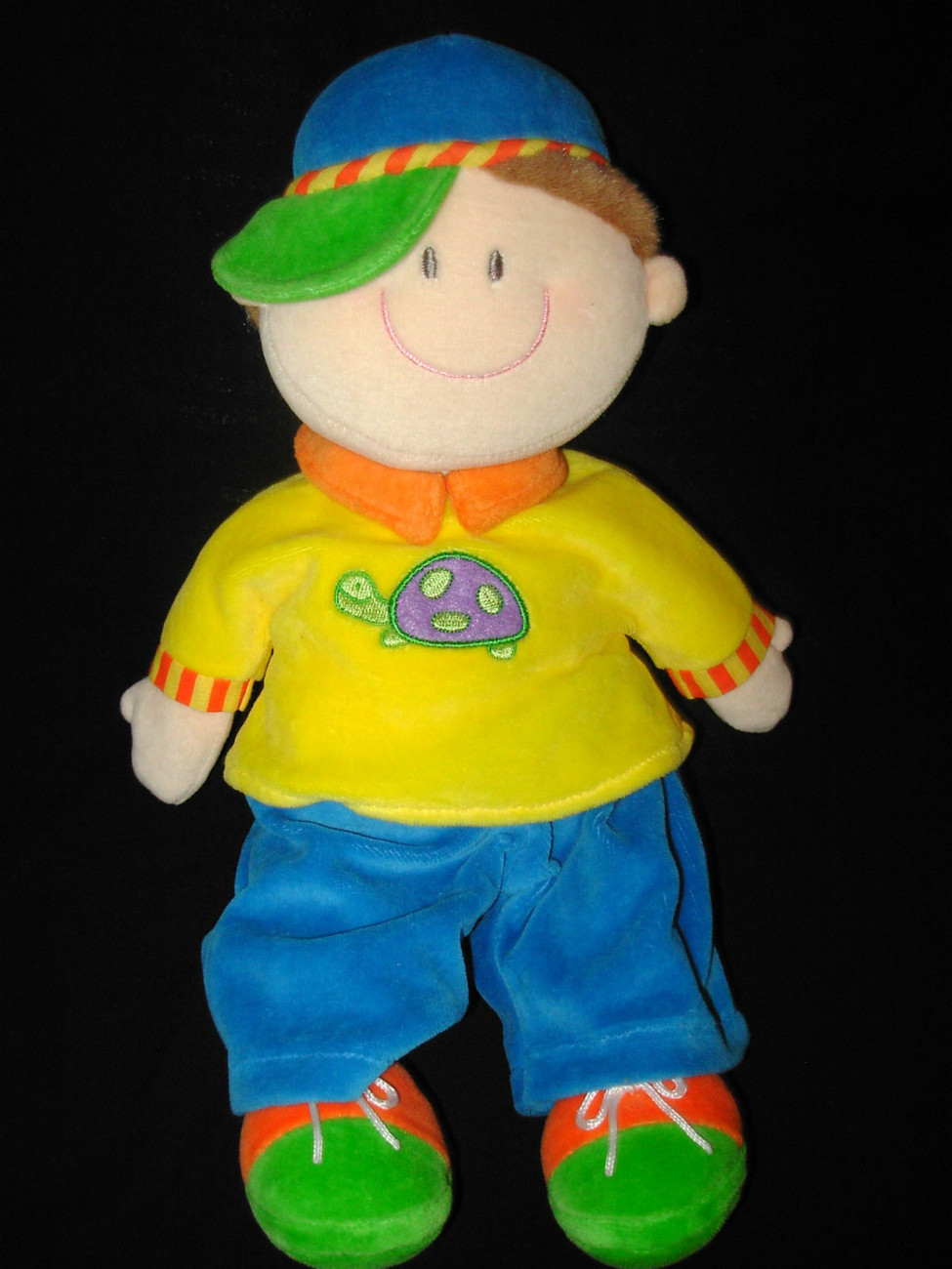 Blue Baby Toys : Russ dollies boy soft doll yellow shirt turtle blue green
