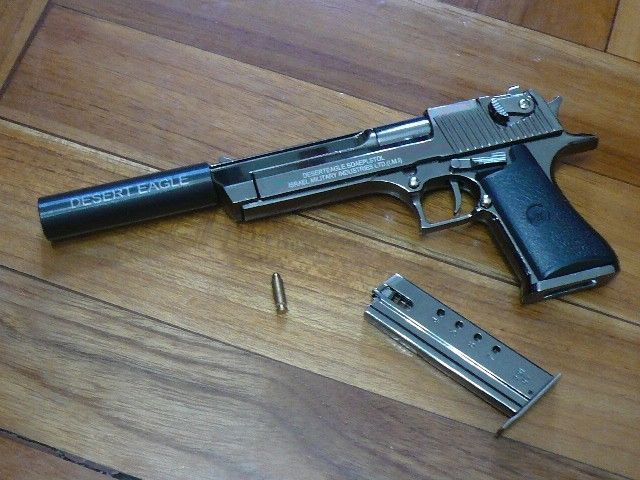 Desert Eagle w/ Silencer Pistol Display and 50 similar items
