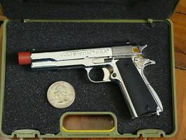 M1911 PISTOL, DISPLAY MODEL SCALE 1/2.5, SILVER COLOR - $18.88
