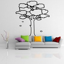 ( 47'' x 46'') Vinyl Wall Decal Large Tree with Branches & Leaves / Nature Ar... - $60.35