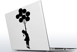 ( 5'' x 12'') Banksy Vinyl Wall Decal Escapism Stunning Girl with Balloons / ... - $13.02