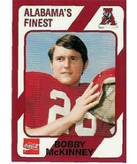 1989 Alabama's Finest #118 Bobby McKinney - ALABAMA CRIMSON TIDE - $1.99