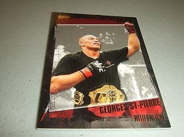2010 Topps UFC Series 4 #100 GOLD Georges St-Pierre - $2.45