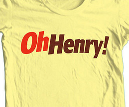 Oh Henry T shirt retro vintage unique candy brands 100% cotton graphic tee image 1