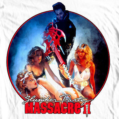 Slumber Party Massacre II T-shirt retro 1980's slasher movie 100% cotton tee