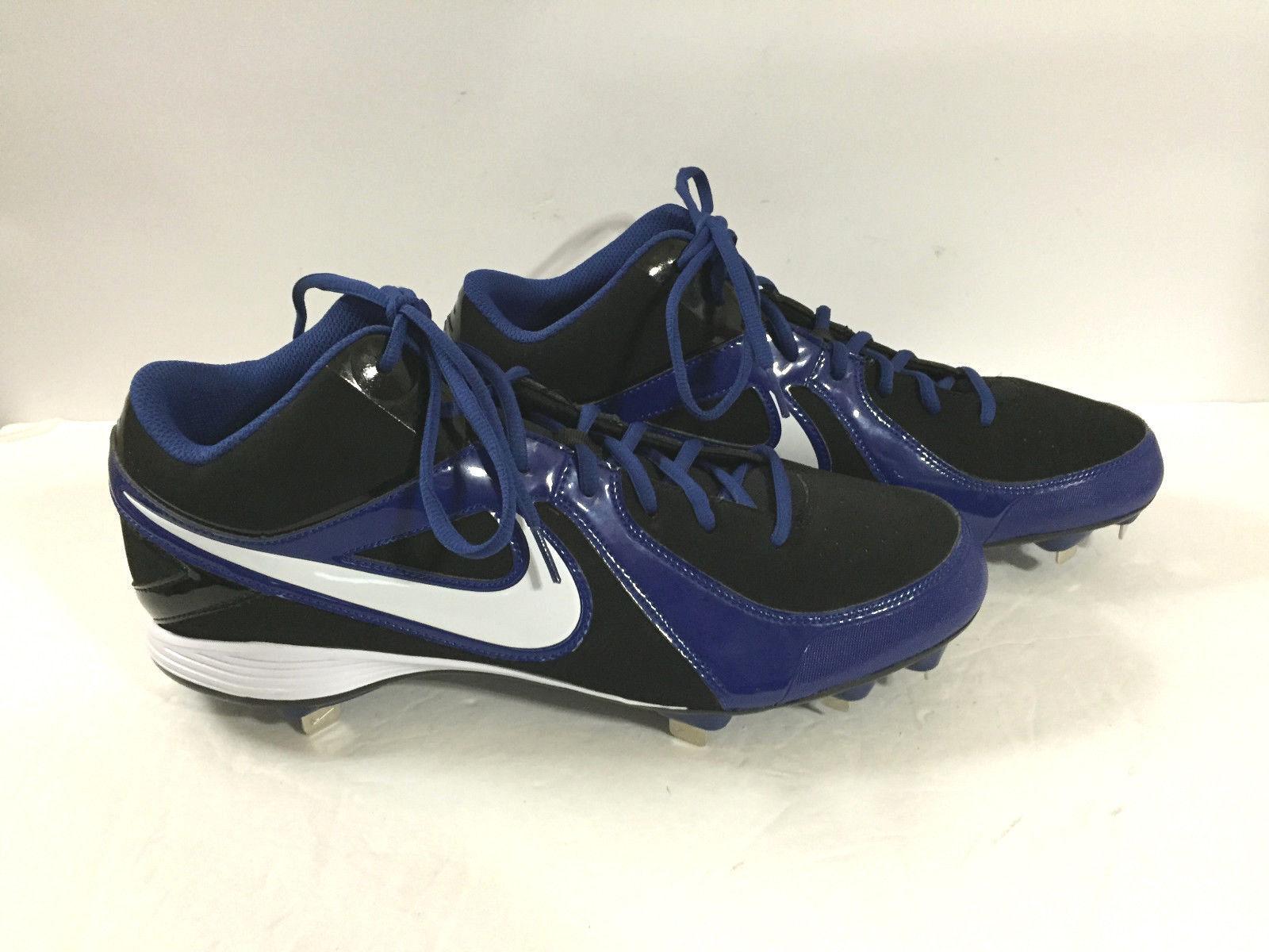 7b198ca607 Nike Men's MVP STRIKE 3/4 Metal Baseball Cleats blue black white Sz. 13 -  $34.64