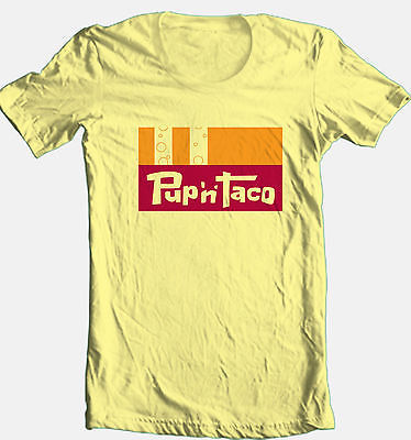 Pup 'n Taco T shirt retro 70's 80's 100% cotton graphic fast food mexican tee