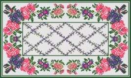 "Latch Hook Pattern Chart: READICUT #743R Melissa 36"" x 60""  - EMAIL2u - $6.95"