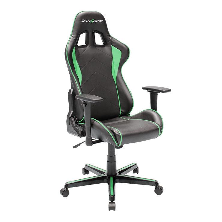 DXRacer OH/FH08/NE High-Back Ergonomic Computer Chair PU Chair(Black/Green)