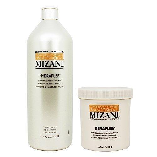 Mizani Hydrafuse Intensive Moisturizing Treatment 33.8oz + Kerafuse Intensive...