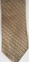 Tommy Hilfiger Geometric Silk Neck Tie Classic Beige Blue USA Made Accessory - $9.89