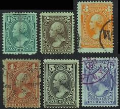 RB11-17a, Six Used (RB16 Mint OG) Proprietary Stamps F-VF Cat $265 Stuar... - $185.00