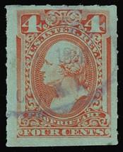 RB15c, 4¢ Proprietary Stamp - VF & RARE! Cat $400.00 - Stuart Katz - $250.00