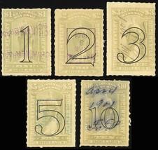 R184-88, Used $1 - $10 Value Documentary Stamps Cat $52.00 - Stuart Katz - $35.00