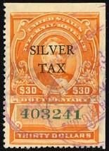 RG19, Used VF $30 Silver Tax Stamp in Orange Cat $75.00 - Stuart Katz - $60.00