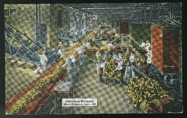 LA New Orleans Unloading Bananas Louisiana  E.C. Kropp Linen Postcard - $4.99