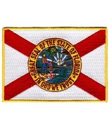 Florida State Flag Embroidered Patch Iron-On FL Emblem - $3.99