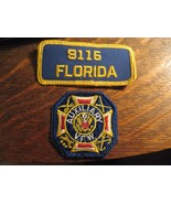 VFW Auxiliary Patches - Vintage Veterans Foreign Wars Florida USA Patch ... - $19.79