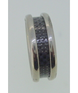 Titanium Ring - black fiber center - $45.00