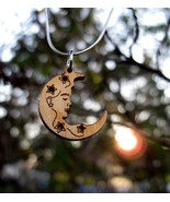 Elegant Dryad Tree Nymph Wooden Moon Amulet Haunted Pendant Metaphysical... - $37.49