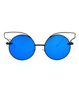 Womens Fashion Sunglasses Round Circle Cateye Thin Metal Frame UV 400 - £9.09 GBP
