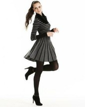 NWOT BCBG MAXAZRIA STRIPED COWL NECK WOOL CASHMERE SWEATER DRESS S - $67.89