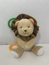 Carter's Child of Mine small mini lion crib hanging rattle plush baby toy - $7.91