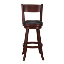 Adeco Dark Brown Wood and Leatherette Cushioned Bar Stool - $129.99