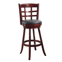 Adeco Walnut-Color Wood and Leatherette Cushioned Bar Stool - $129.99