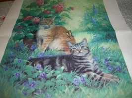 Cats In The Garden Stamped Cross Stitch Kit - $15.00