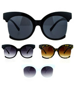 SA106 Womens Oversize Side Crop Lens Butterfly Round Sunglasses - $9.95