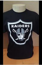 Oakland Raiders Classic Logo Black T-Shirt / Football Team - $16.99+