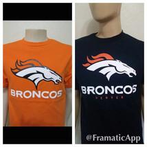 Denver Broncos T-Shirt ( Blue or Orange) Front Logo Only / football NFL ... - $14.99+
