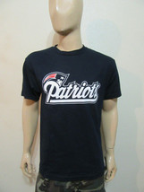 England Patriots Navy T-Shirt / Writng with Logo Football NFL Team - $14.99+