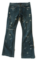 Earl Jeans 75 Jean Fashionable Rips and Tears Size 27 Distressed Blue Denim - $8.90