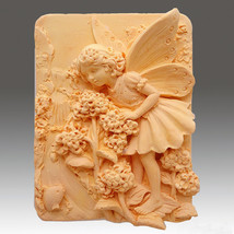 Fairy Olinda - 2D Silicone Soap/Polymer Clay/Cold Porcelain Clay/Plaster Mold - $26.72
