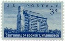 1956 3c Booker T. Washington, American Educator Scott 1074 Mint F/VF NH - $0.99