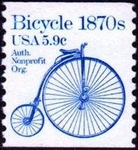 1982 5.9c Bicycle, Coil Scott 1901 Mint F/VF NH - $0.99