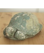 Vintage The Stone Bunny Green Turtle Tortoise Telle M Stein Carved Figur... - $29.95