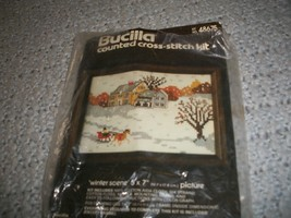 Bucilla 48675~Winter Scene Cross Stitch Kit - $10.00