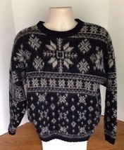 Vintage Woolrich Woman's Wool Blend Dark Blue Sweater Ski Winter Snow Si... - $546,31 MXN