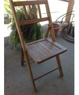 Antique Vintage oak Wood Wooden Slatted Folding... - $75.00