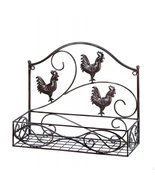 Charming Country Rooster Basket Wall Rack - $28.00